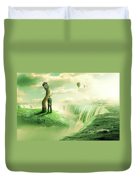 The Time Keeper Duvet Cover by Nathan Wright