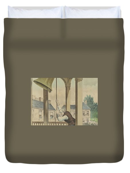 The Tocsin Of Liberty Rung By The State House Bell, Philadelphia On July 4th 1776 Duvet Cover