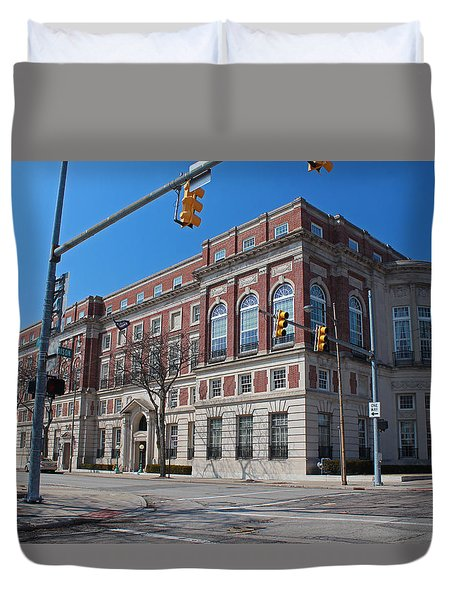Duvet Cover featuring the photograph The Toledo Club by Michiale Schneider