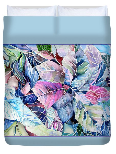 The Touch Of Silence Duvet Cover by Mindy Newman