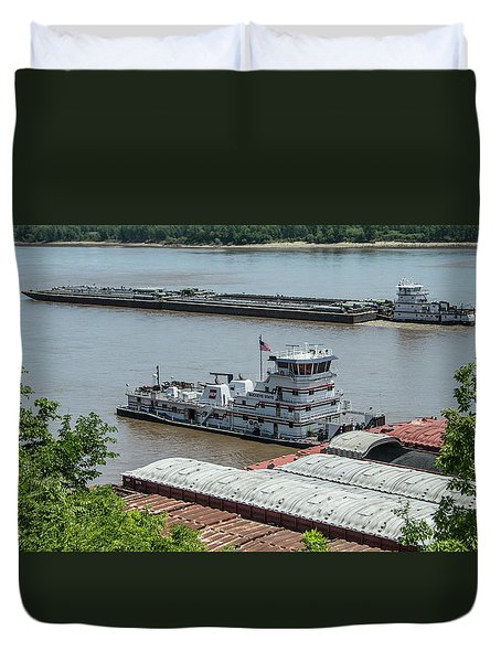 The Towboat Buckeye State Duvet Cover by Garry McMichael