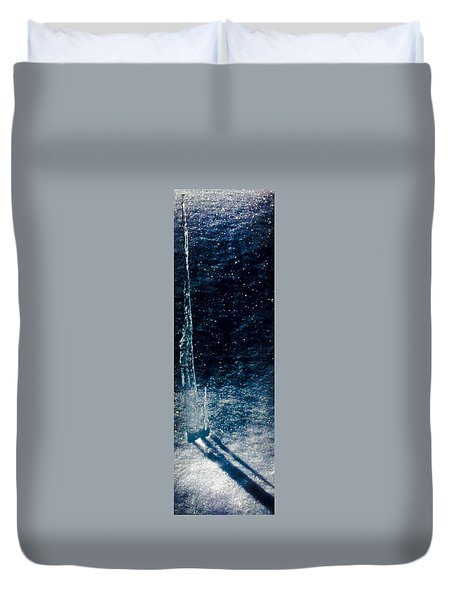 The Tower Of Ice Shadows Duvet Cover