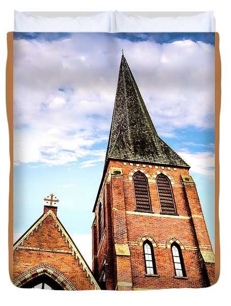 Duvet Cover featuring the photograph The Tower by Onyonet  Photo Studios