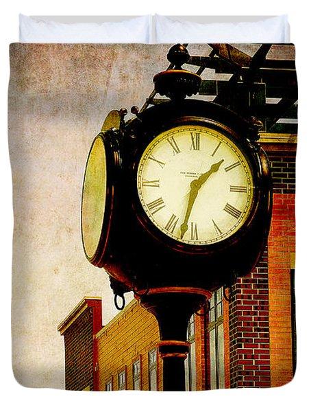 the Town Clock Duvet Cover
