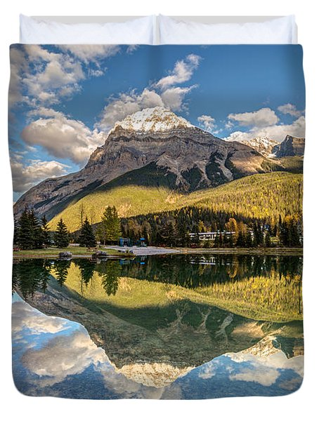 The Town Of Field In British Columbia Duvet Cover