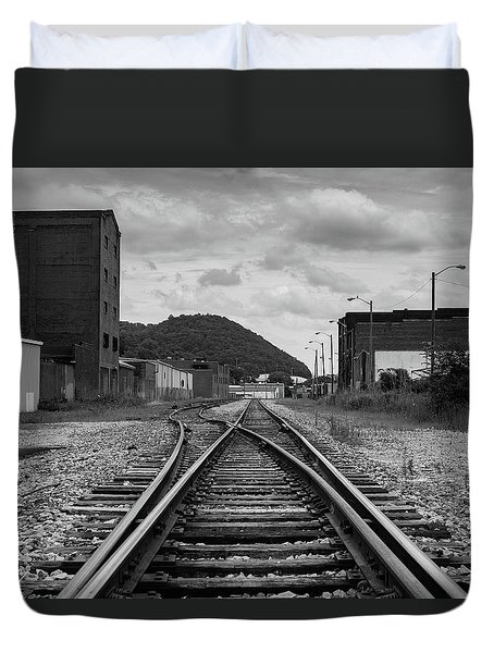 Duvet Cover featuring the photograph The Tracks by Break The Silhouette