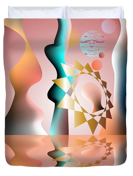 Duvet Cover featuring the digital art The Tradition Founder by Leo Symon