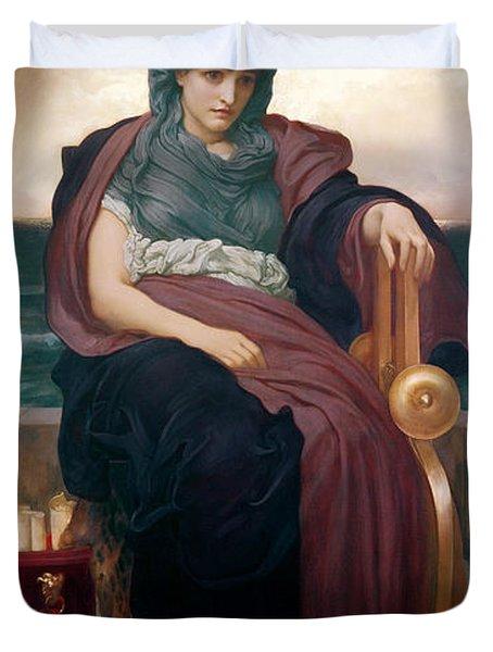 The Tragic Poetess Duvet Cover by Frederic Leighton