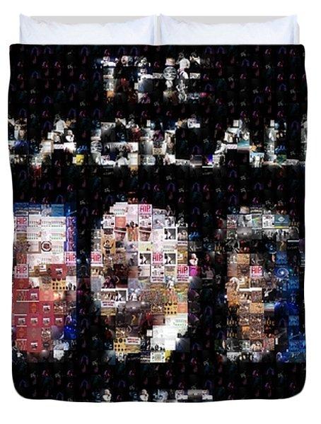 The Tragically Hip Mosaic Duvet Cover by Paul Van Scott