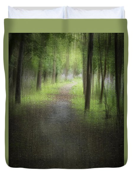 The Trail Into The Woods Duvet Cover