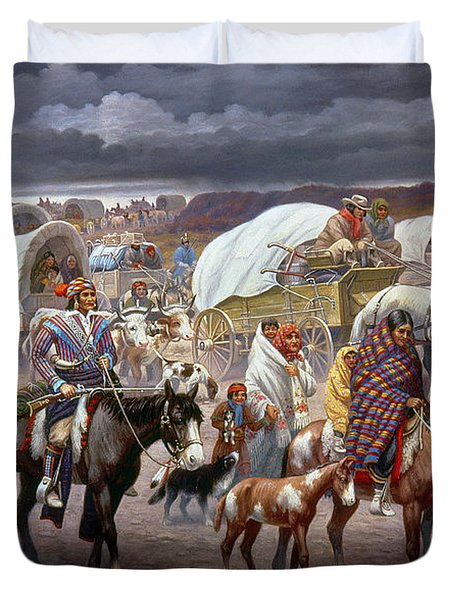 The Trail Of Tears Duvet Cover