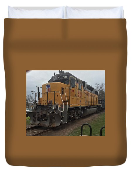 The Train At The Ymca Duvet Cover