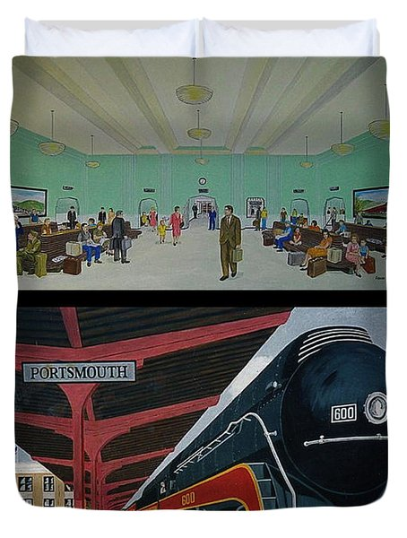 The Train Station At Portsmouth Ohio Duvet Cover