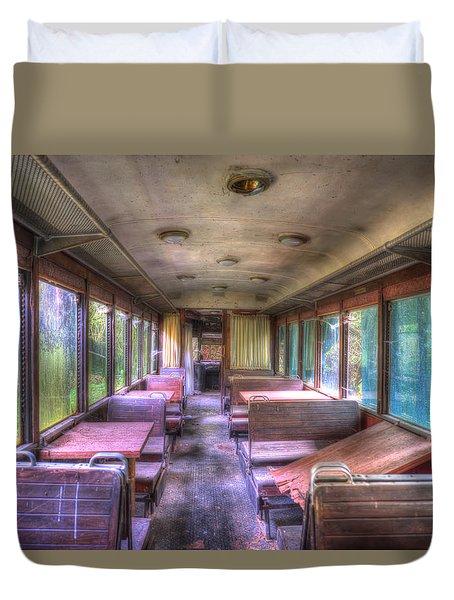 The Tram Leaves The Station... Inside Duvet Cover