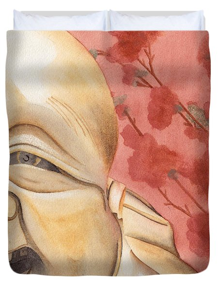 The Travelling Buddha Statue Duvet Cover