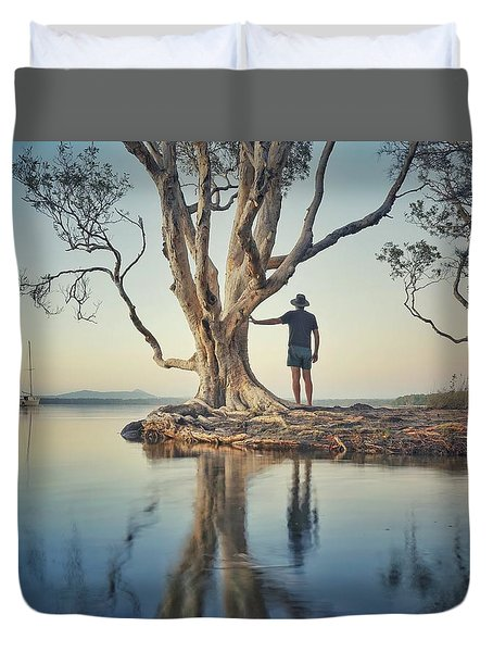 The Tree And Me Duvet Cover