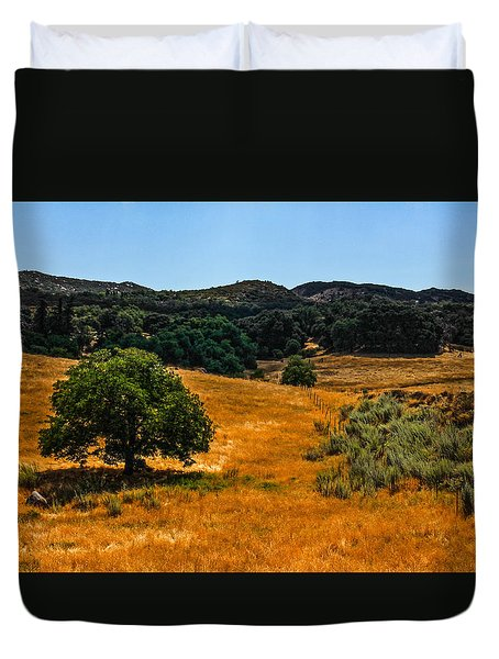 Duvet Cover featuring the photograph The Tree by Break The Silhouette