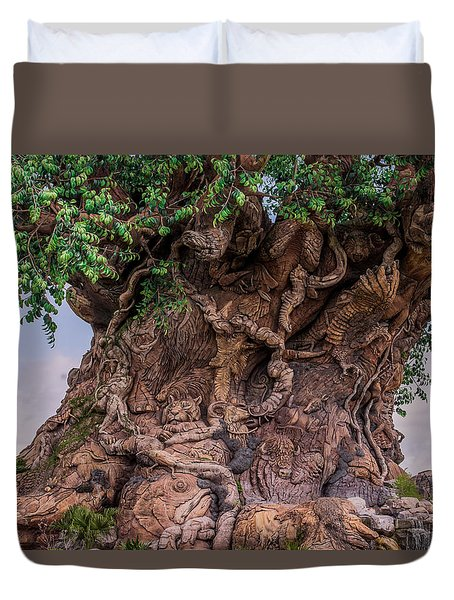 The Tree Of Life Close Duvet Cover