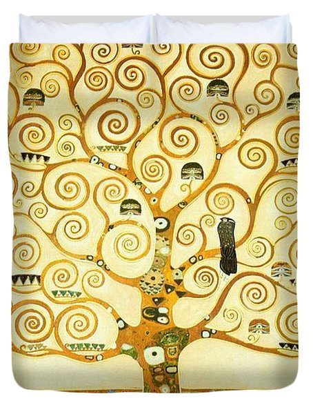 The Tree Of Life Duvet Cover by Gustav Klimt