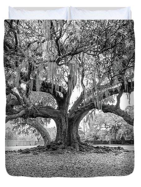 The Tree Of Life Monochrome Duvet Cover