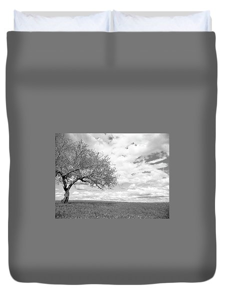 The Tree On The Hill Duvet Cover
