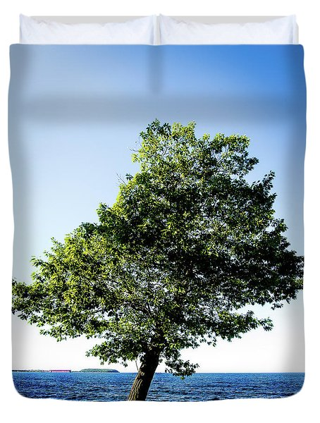 Duvet Cover featuring the photograph The Tree by Onyonet  Photo Studios