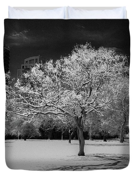 The Tree Stands Alone Duvet Cover