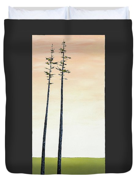 The Trees Are So Tall Here   Duvet Cover