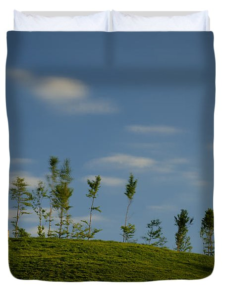 The Trees On The Hill Duvet Cover