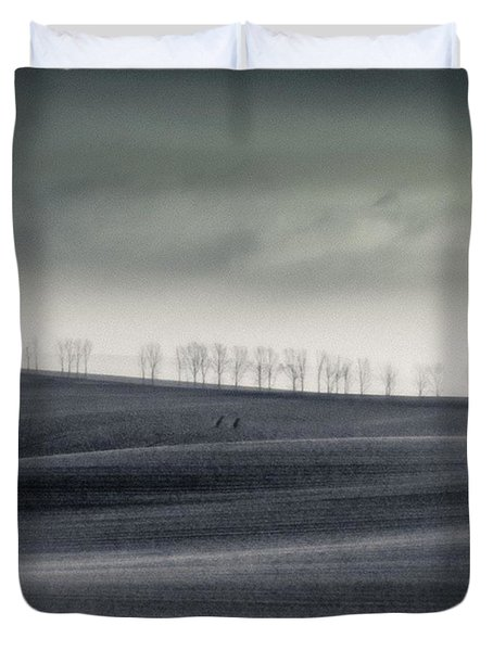 The Trees On The Horizon  #monochrome Duvet Cover