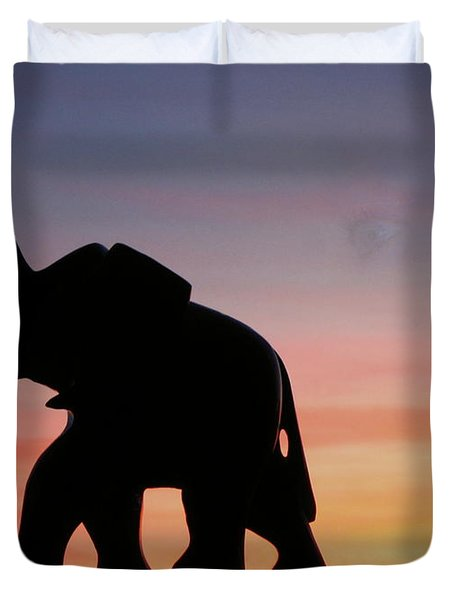 Duvet Cover featuring the photograph The Trek by Joyce Dickens