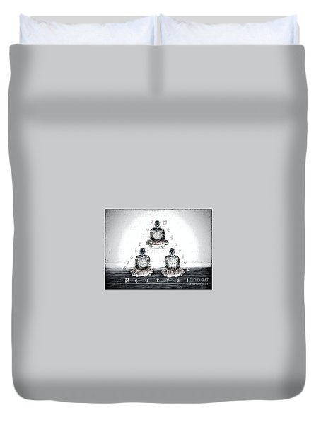 The Triangle Of Decision Duvet Cover