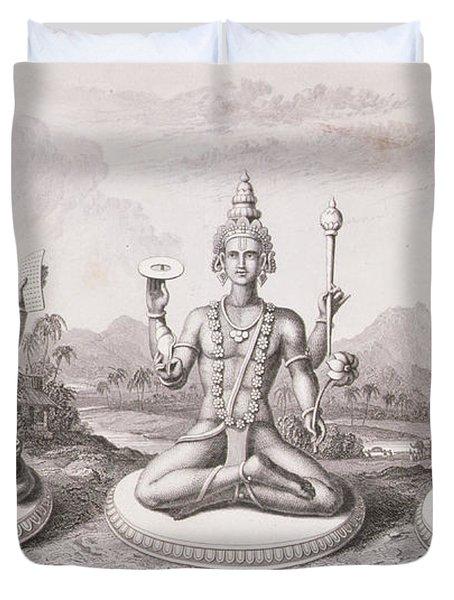The Trimurti Or Hindu Trinity Duvet Cover