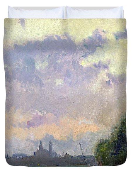 The Trocadero Duvet Cover by Albert Charles Lebourg
