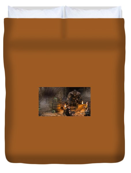 The Trolls Of Black Water Deep Duvet Cover