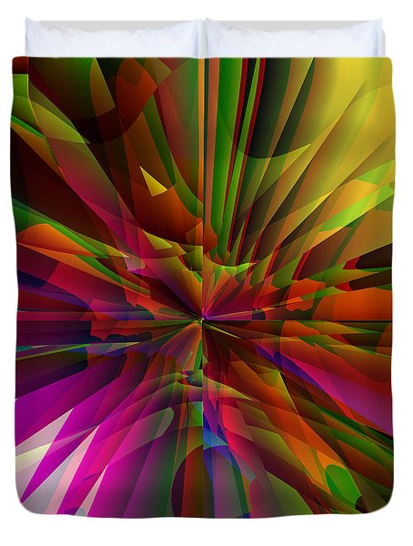 Duvet Cover featuring the digital art The Tropics by Kathleen Sartoris
