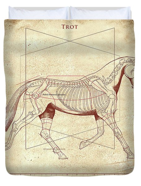 The Trot - The Horse's Trot Revealed Duvet Cover