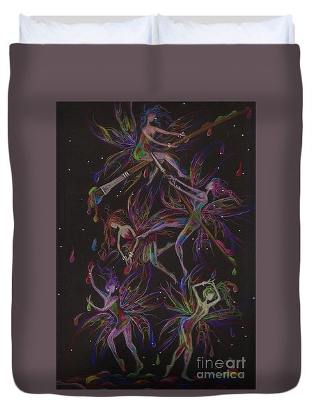 The Trouble With Paint Duvet Cover by Dawn Fairies