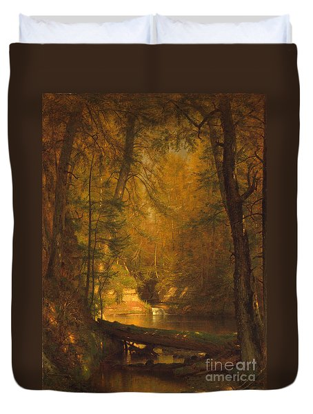 The Trout Pool Duvet Cover by John Stephens