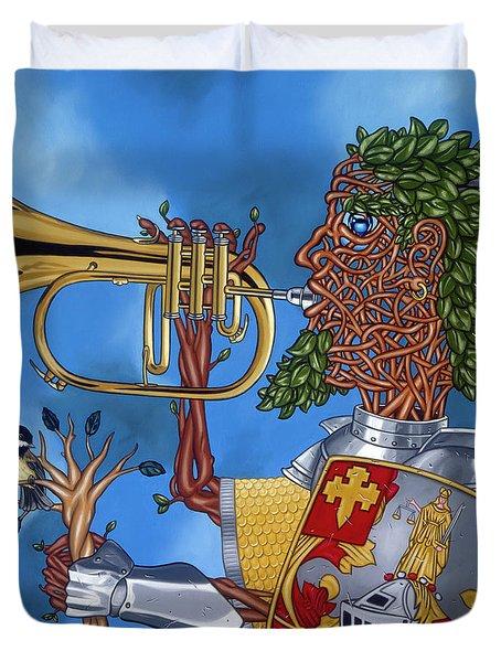 The Trumpiter Duvet Cover