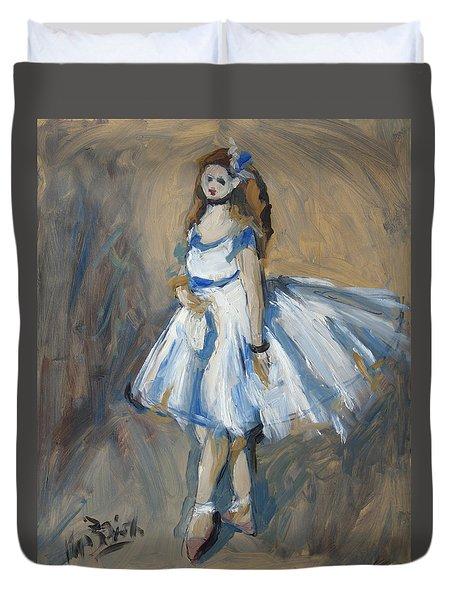 The Truth Lies Between Aguste Renoir And Marlene Dumas Duvet Cover by Nop Briex