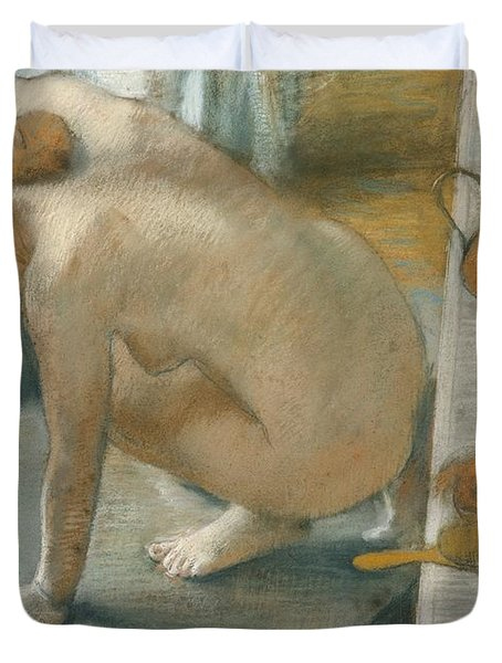 The Tub Duvet Cover by Edgar Degas