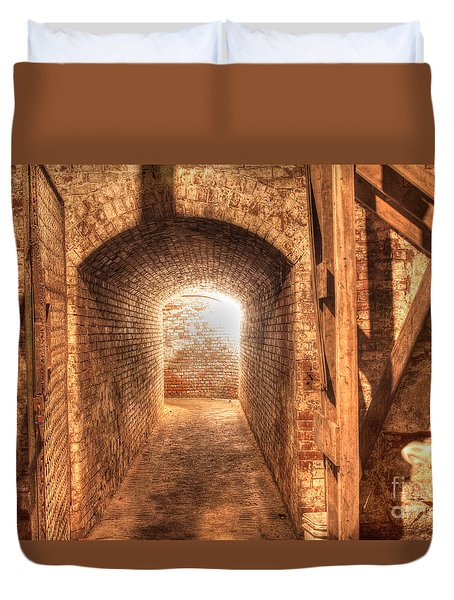Duvet Cover featuring the photograph The Tunnel by David Bishop