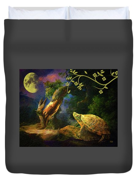 The Turtle Of The Moon Duvet Cover