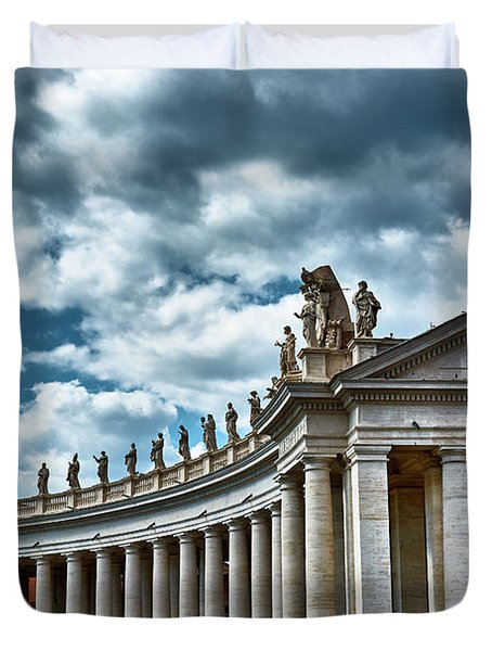 The Tuscan Colonnades In The City Of Rome Duvet Cover