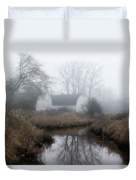 The Twin Barns Of Nisqually Duvet Cover