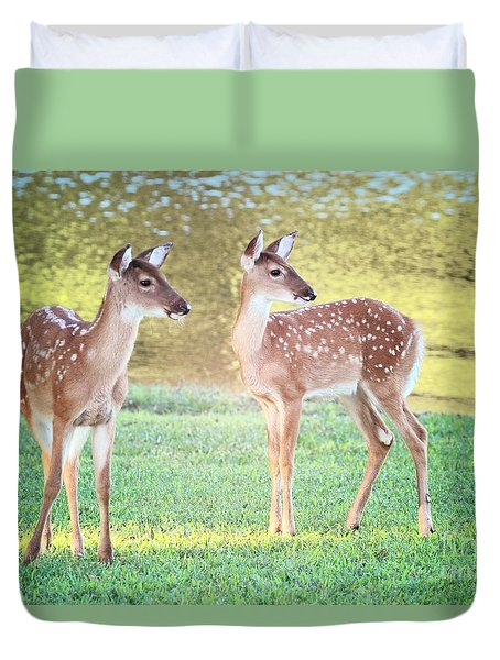 The Twins Duvet Cover by Geraldine DeBoer