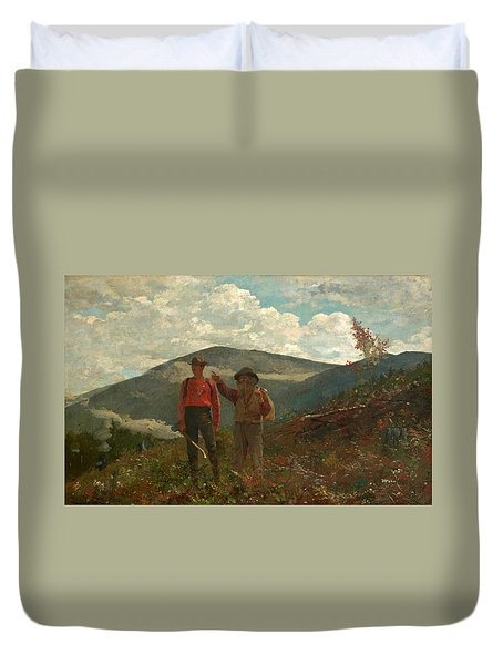 Duvet Cover featuring the painting The Two Guides by Winslow Homer