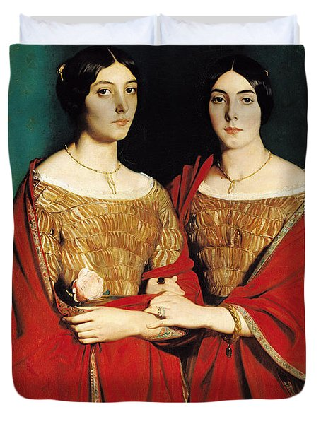 The Two Sisters Duvet Cover
