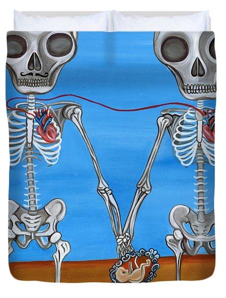 The Two Skeletons Duvet Cover